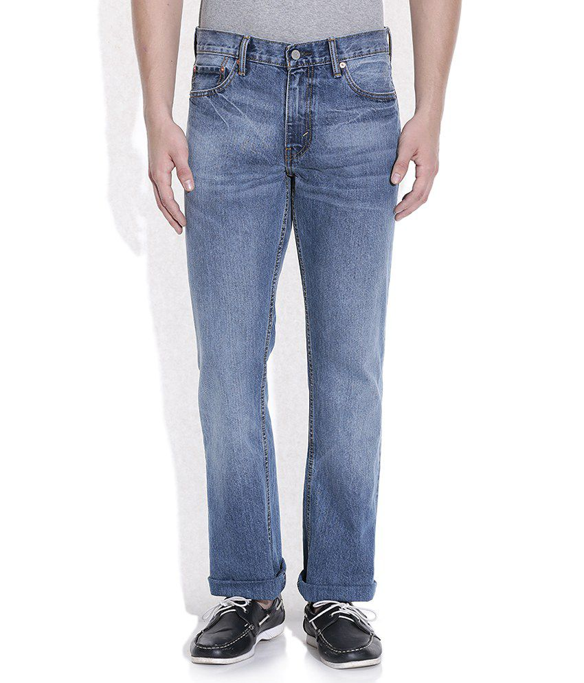 Levis Blue Faded Jeans 504