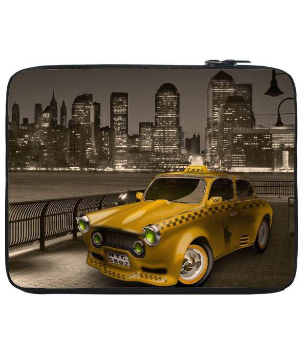 Snoog Brown & Yellow Laptop Sleeve