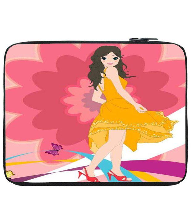 Snoog Pink & Yellow Laptop Sleeve
