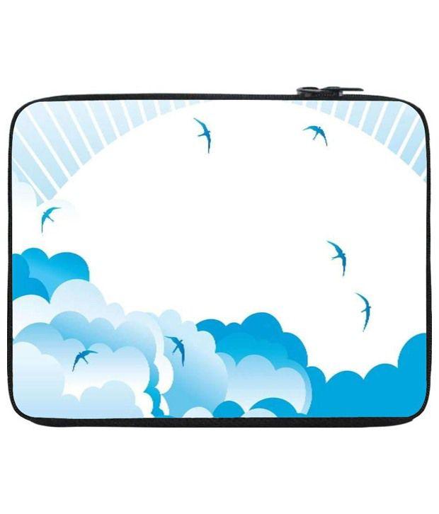 Snoog Blue & White Laptop Sleeve