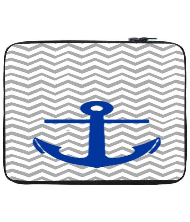 Snoog Gray & Blue Laptop Sleeve