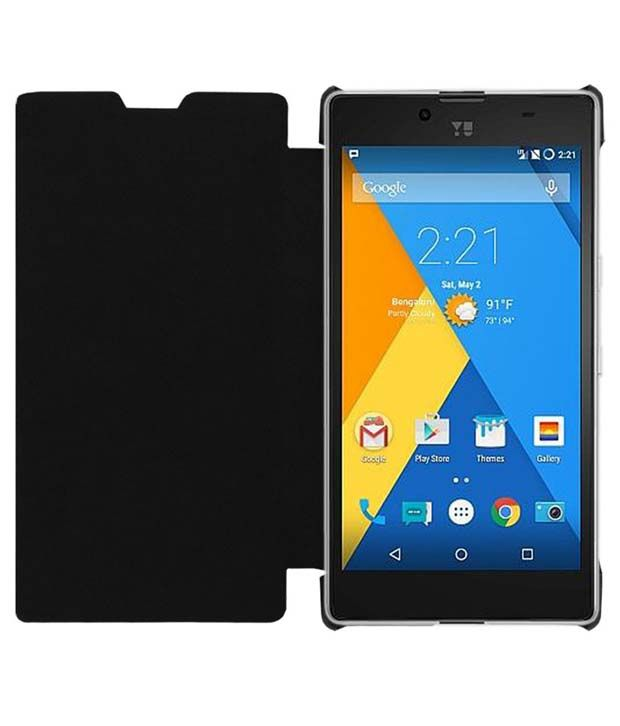 pick up 9ade5 4b812 Acm Leather Flip Cover For Micromax Yu Yuphoria Yu5010 -black