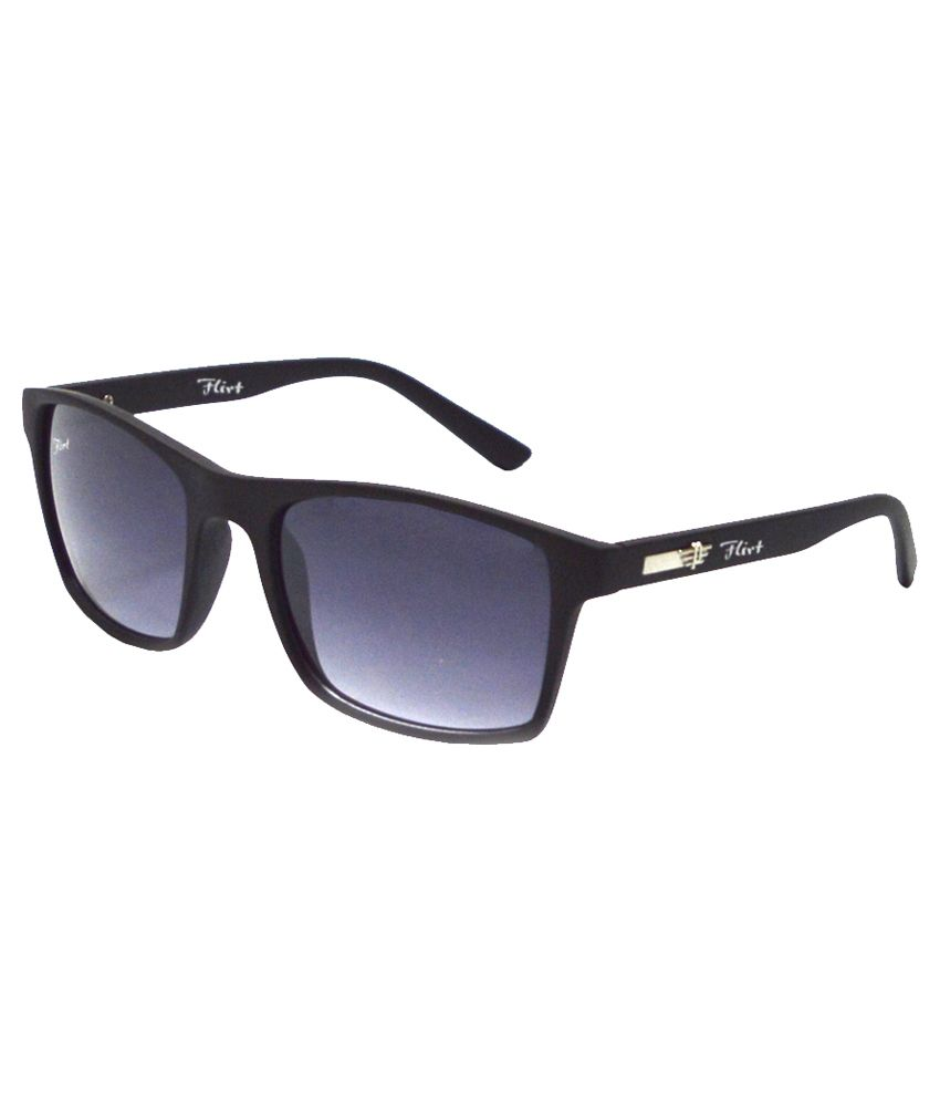Red Knot Black Non Metal Rectangle Sunglasses