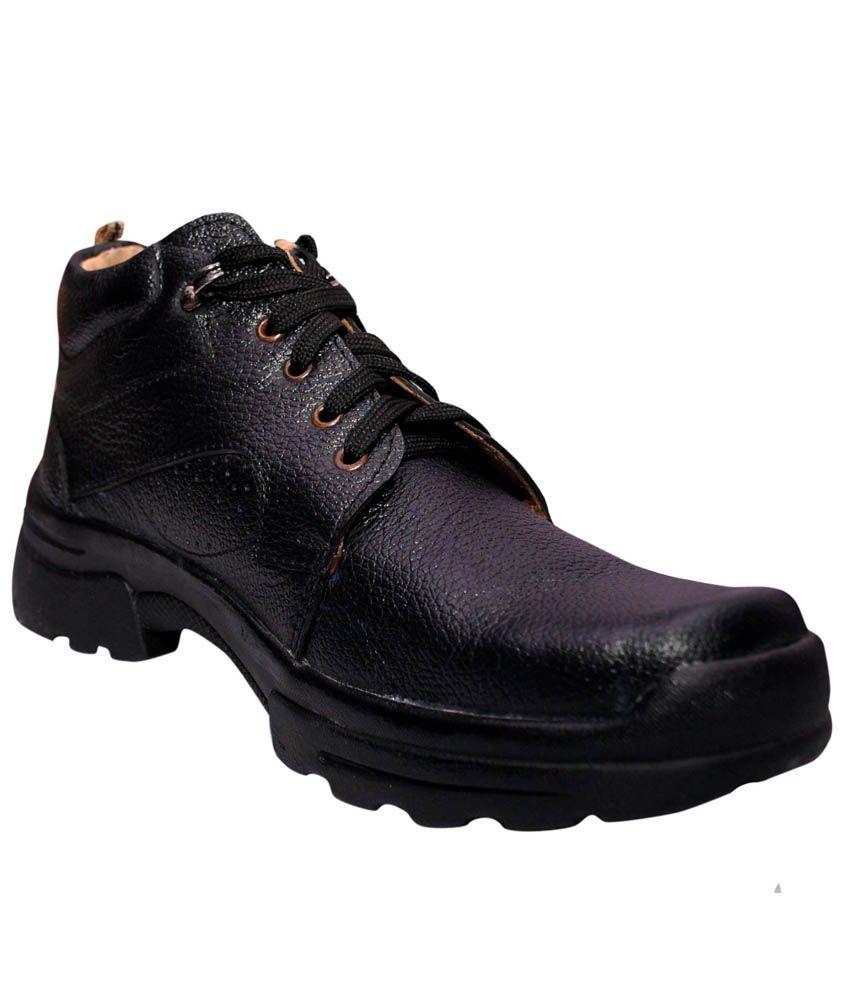 Virani Black Leather Boots
