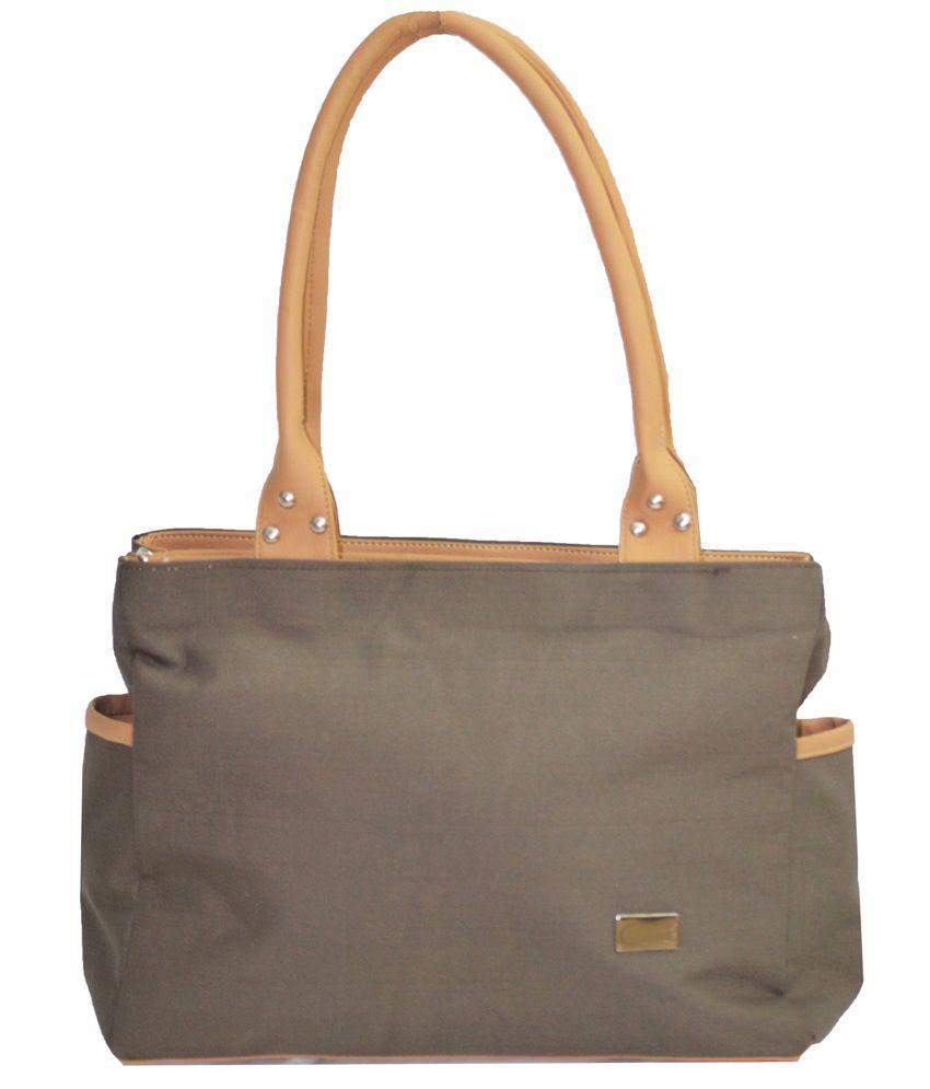 JGshoppe Gray Canvas Cloth Shoulder Bag