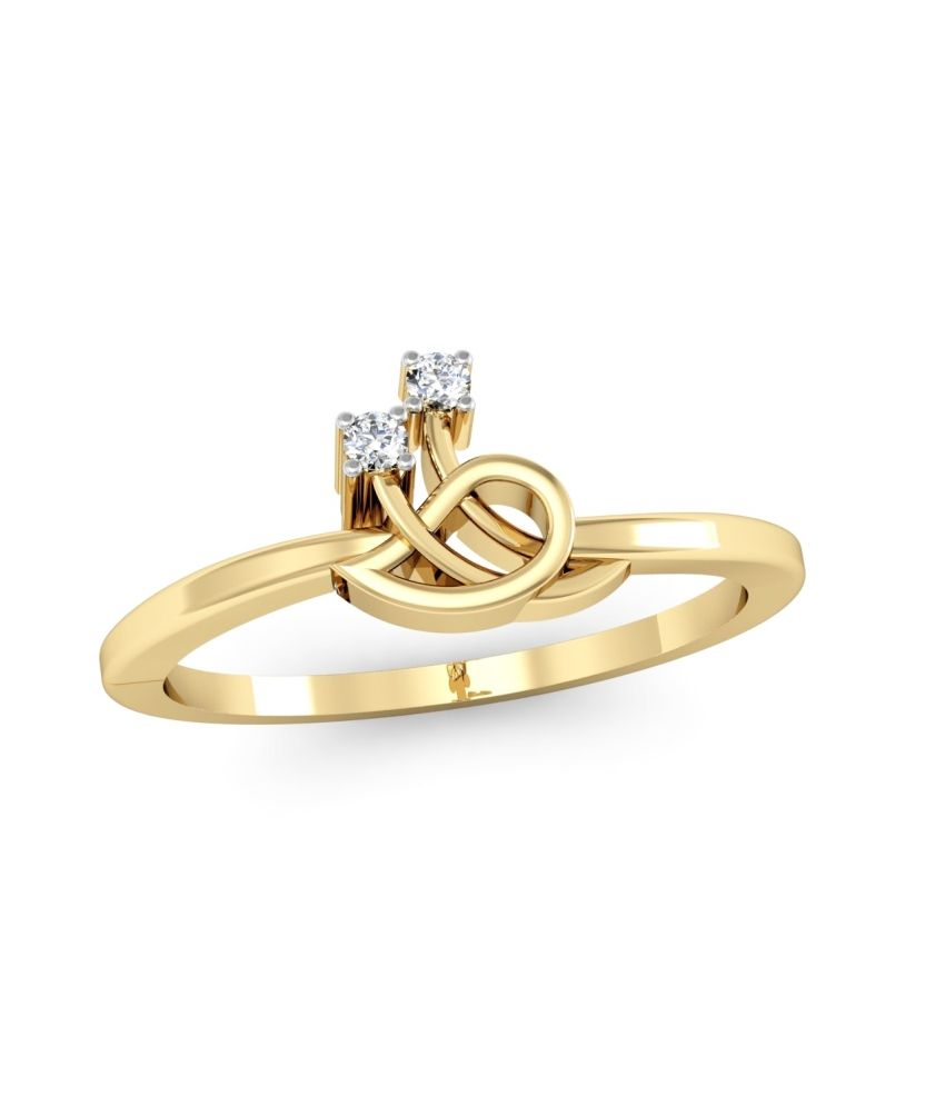 Kataria Jewellers The Questa BIS Hallmarked Gold and Real Certified Diamonds Designer Ring