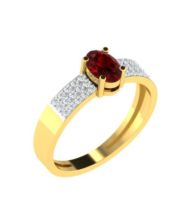 Sparkles 18Kt Gold Self Certified Colour Spark Diamond Ring