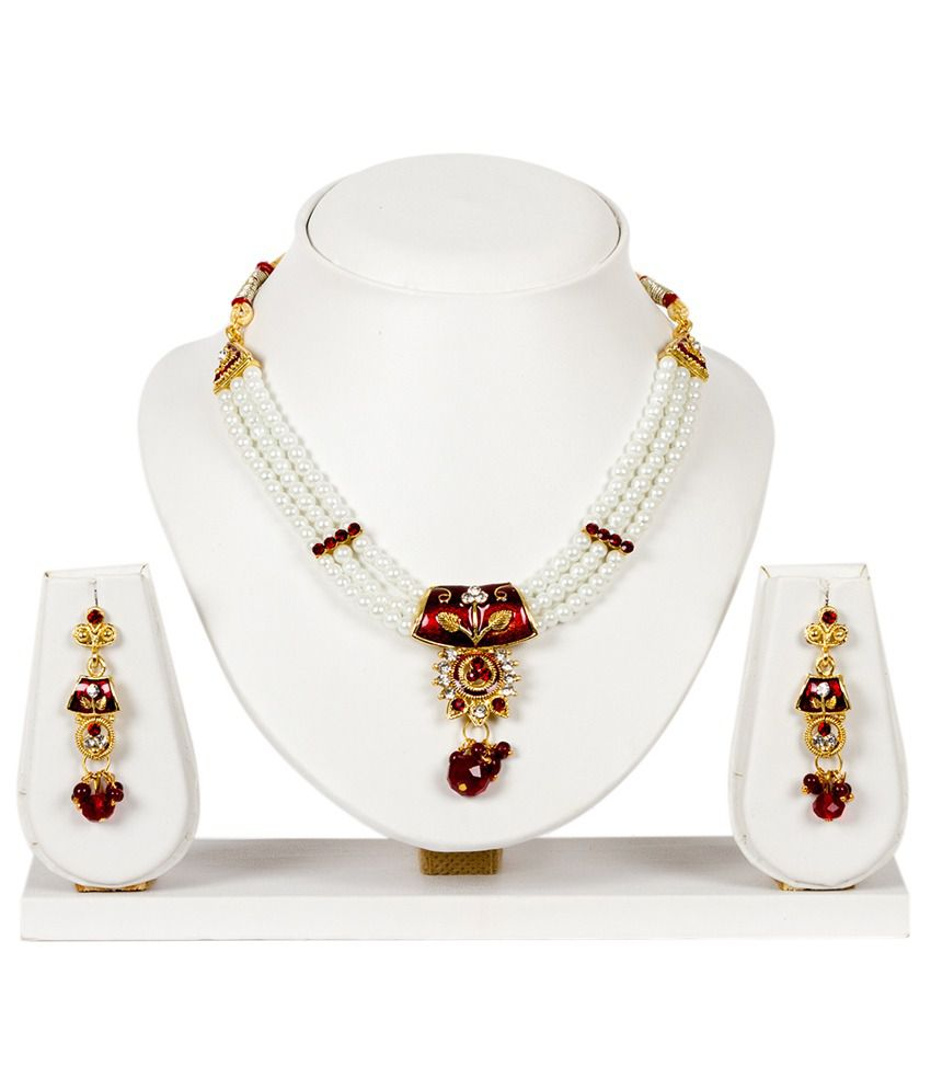 Subh Multicolor Designer Alloy Necklace Set