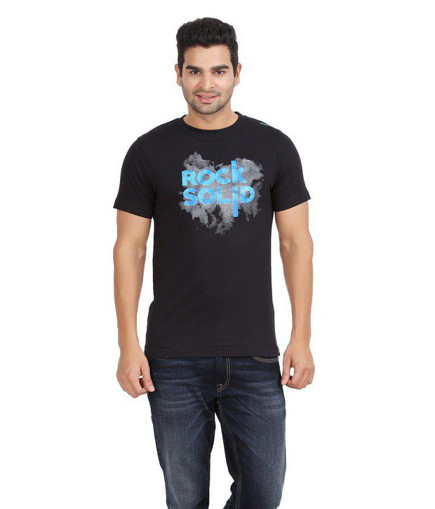 Fazator Rock Solid Muscle Black T-Shirt