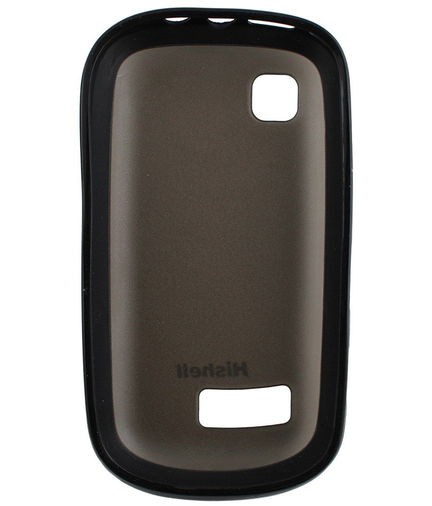 sports shoes 469f4 44a92 Hishell Back Cover for Nokia Asha 200 - Black