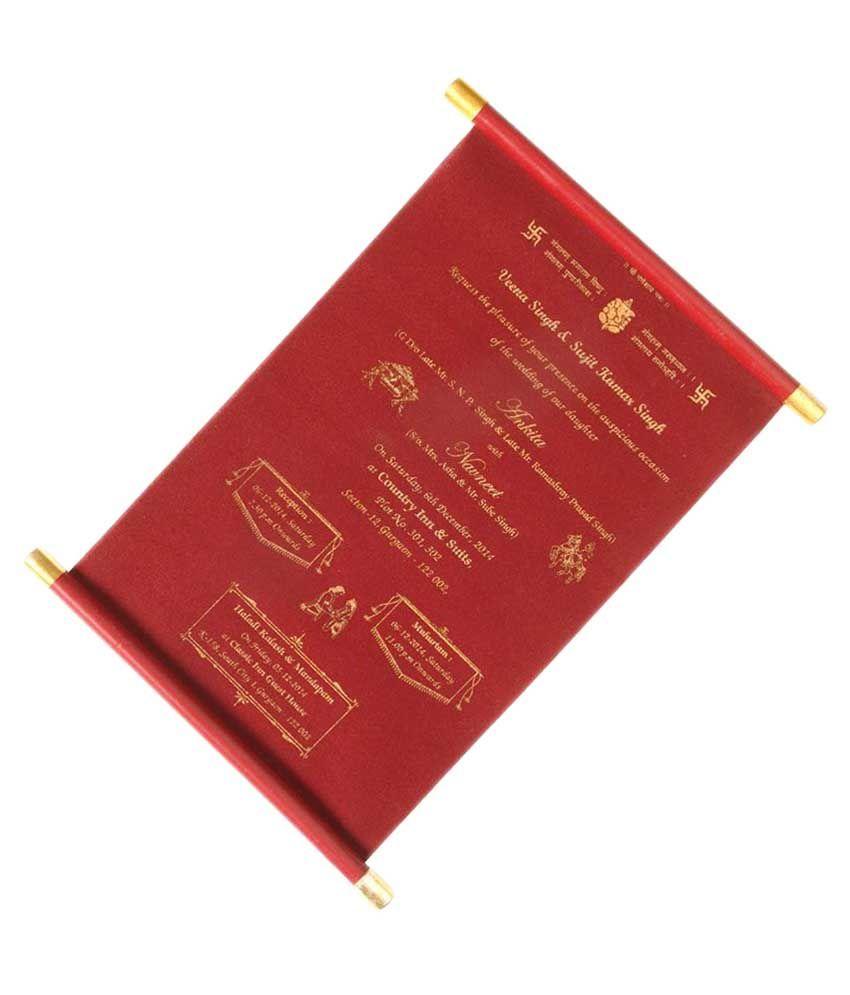 Nakoda Cards Golden Crimson Lagna Patrika