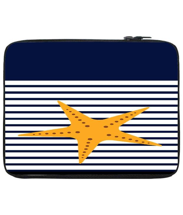 Snoog White & Blue Laptop Sleeve