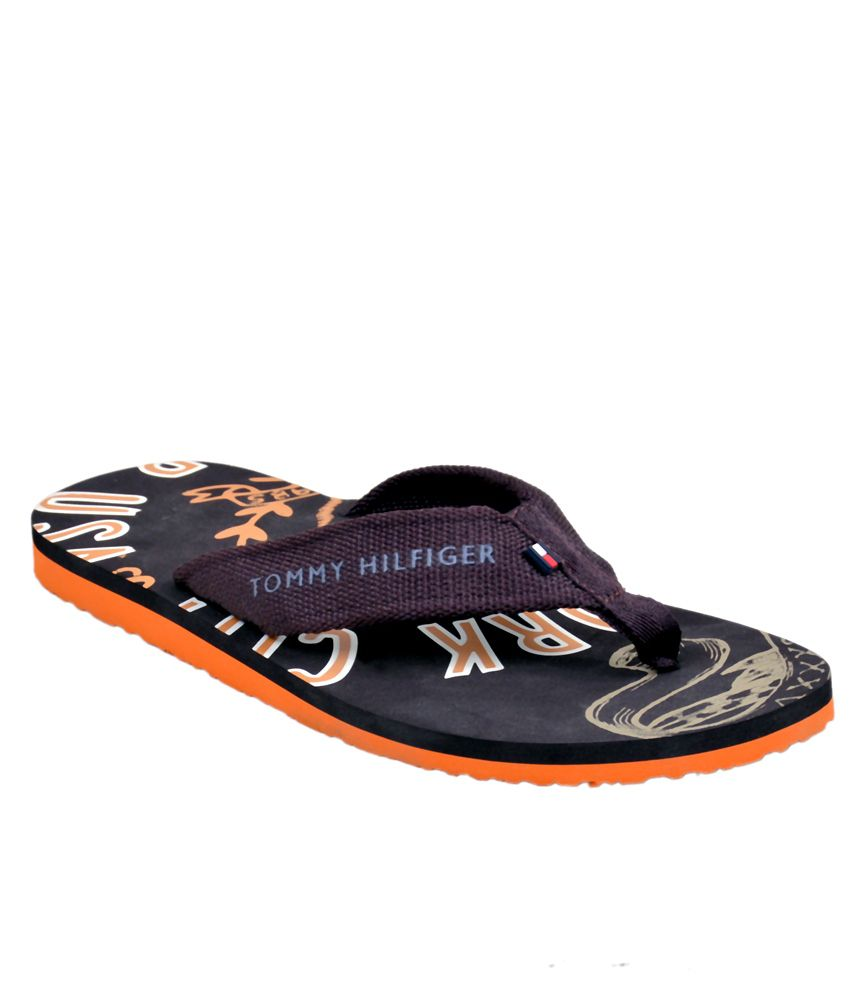 14a336cecebe Tommy Hilfiger Navy Synthetic Flip Flops Price in India- Buy Tommy Hilfiger  Navy Synthetic Flip Flops Online at Snapdeal