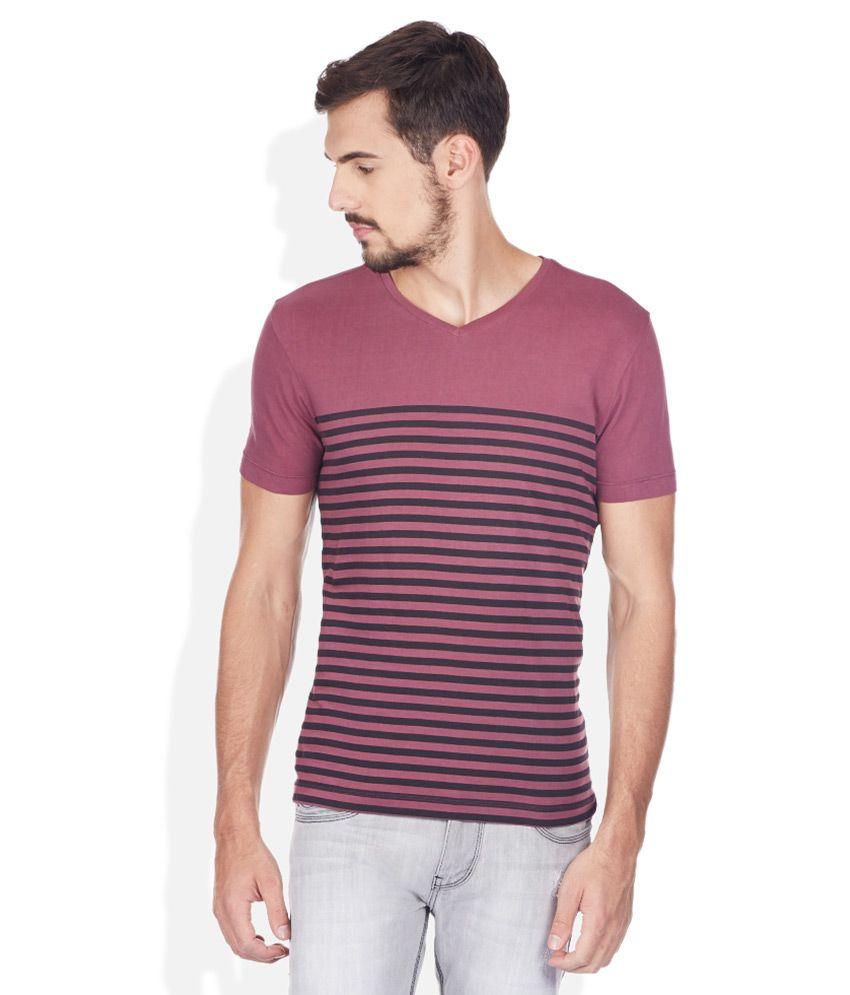 Ed Hardy Purple V-Neck T Shirt