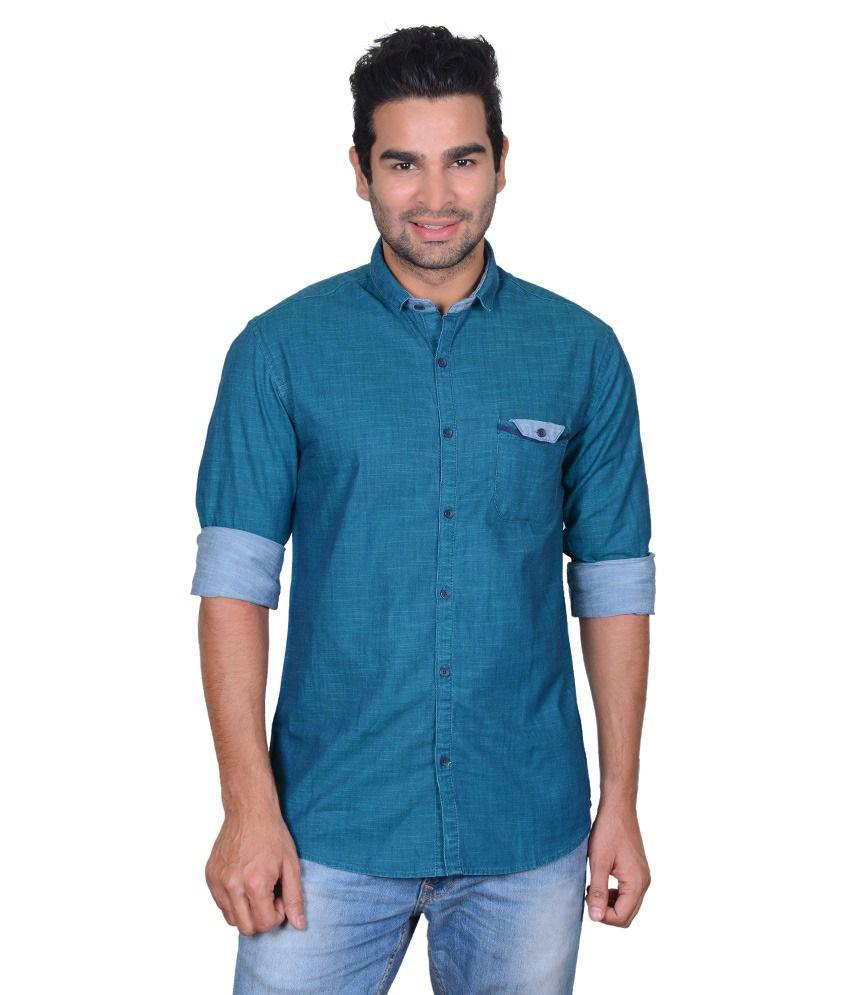 Shirt design blue cotton - So Design Blue Cotton Shirt