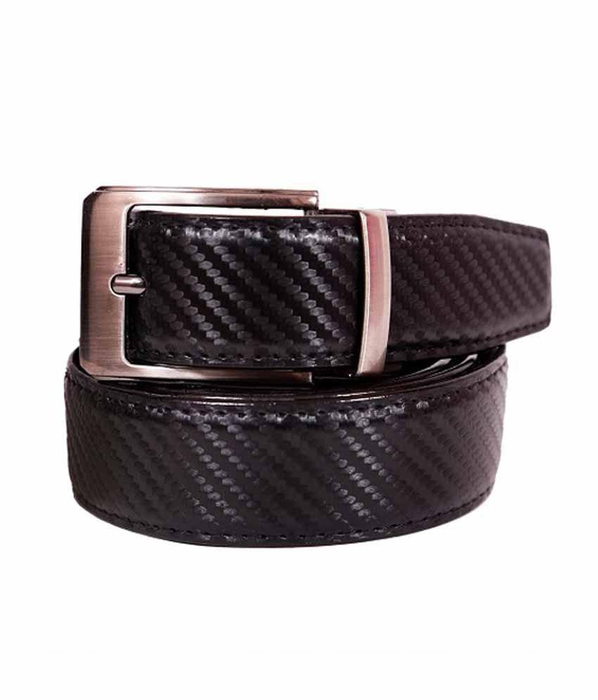 Alexus Black Leather Belt