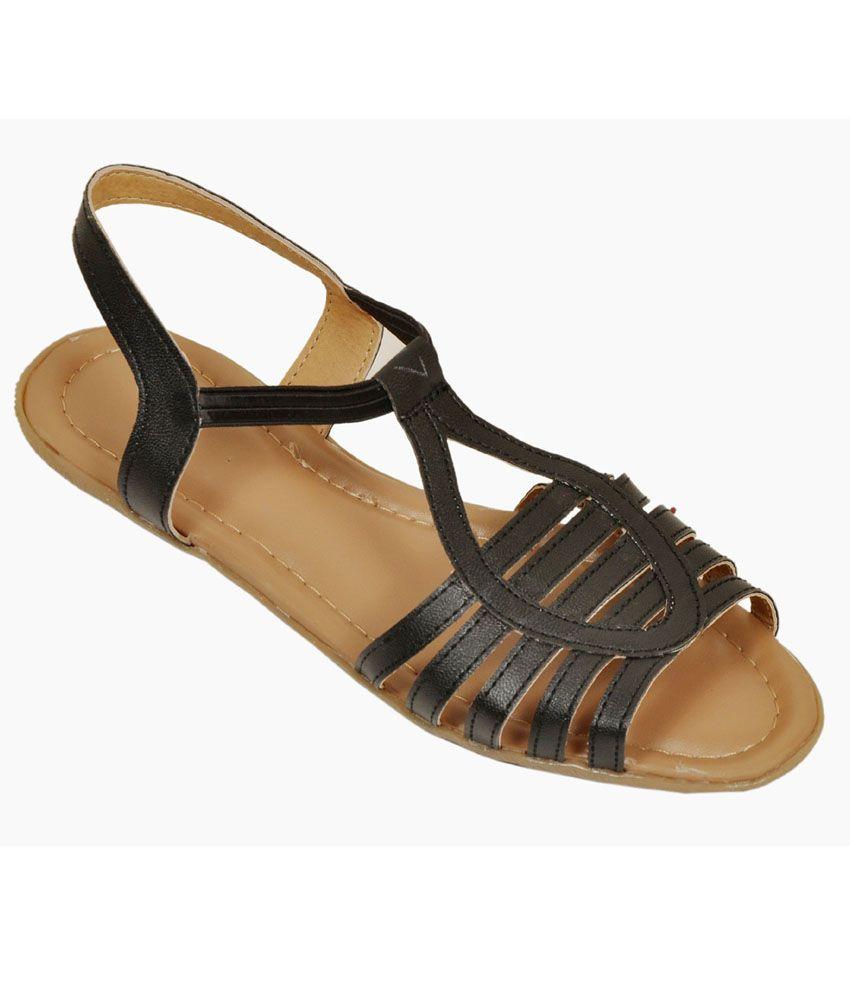 Bare Soles Black Patent Sandal