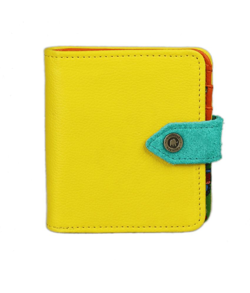 Chumbak Butterfly Square Wallet Yellow