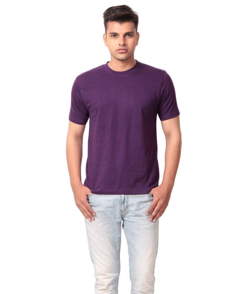 J & D Sales Purple Cotton T-shirt
