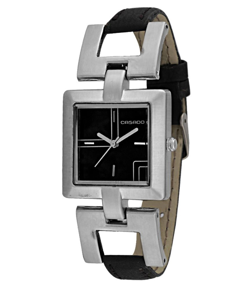 dcf45f74775 Casado Watches Black Leather Watch Price in India  Buy Casado Watches Black  Leather Watch Online at Snapdeal