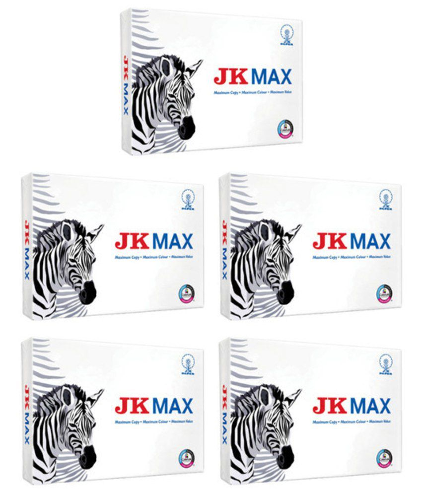 Jk max a4 500 pages 67 gsm pack of 5 buy online at best for Pages to buy online
