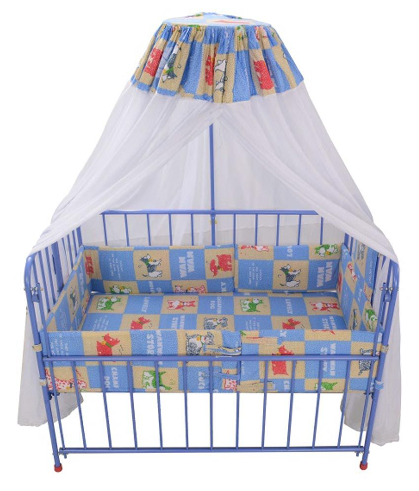 Mothertouch Baby Cot Light Blue