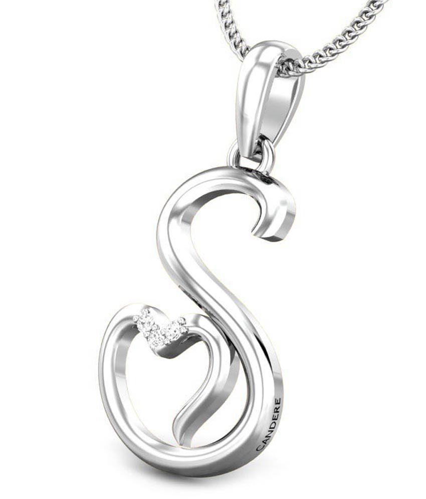 Candere S Love White Gold 18K Diamond Pendant: Buy Candere S Love ...