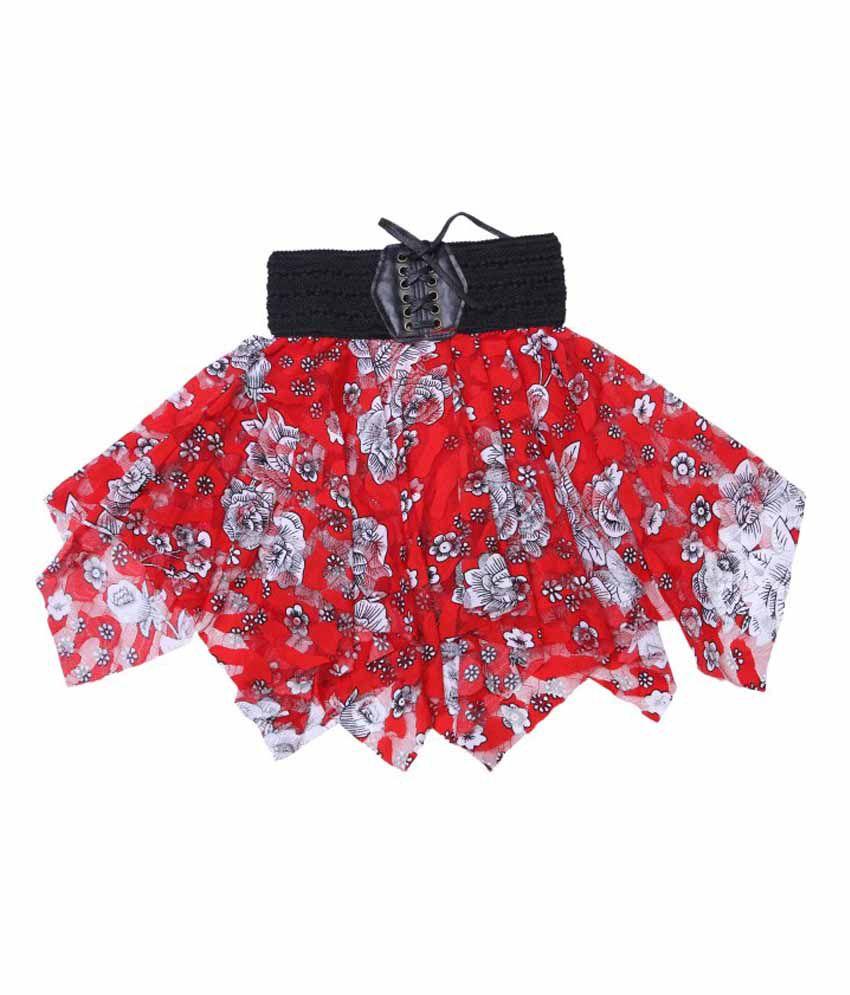Hunny Bunny Red Net 3D Print Skirt
