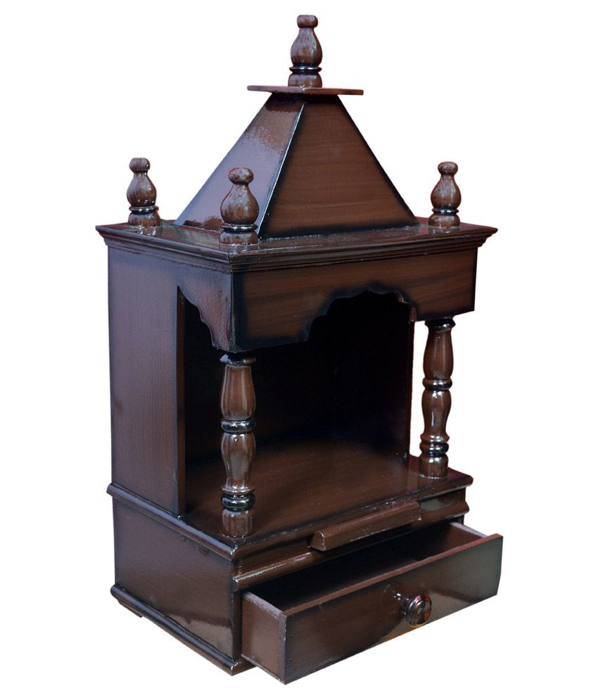 Quality Creations Home Temple Pooja Mandir Wooden Temple Temple For