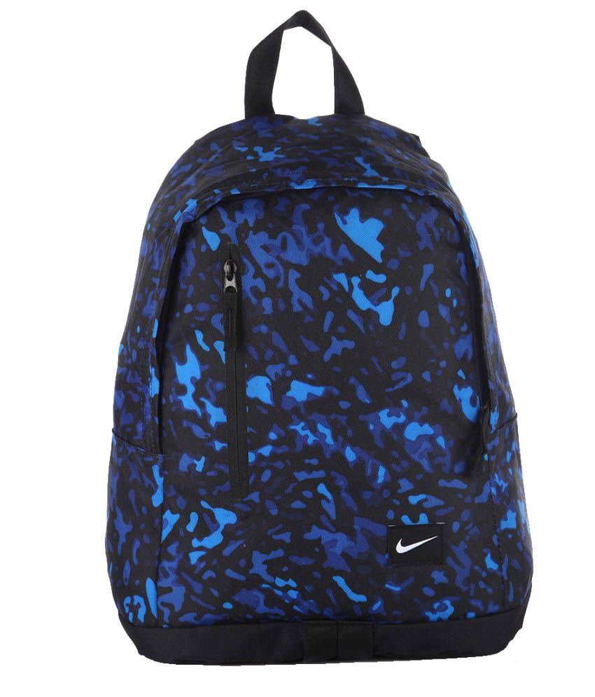 Nike Blue And Black Polyester Backpack - Buy Nike Blue And Black Polyester  Backpack Online at Best Prices in India on Snapdeal f4e3c4ec9d