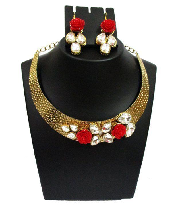 Nj's Multicolour Designer Necklace