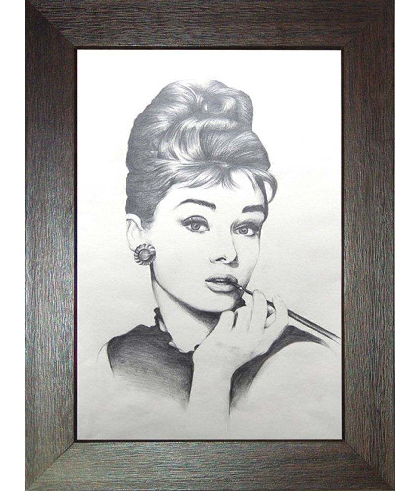 Peridot pencil sketch women painting with frame buy peridot pencil sketch women painting with frame at best price in india on snapdeal
