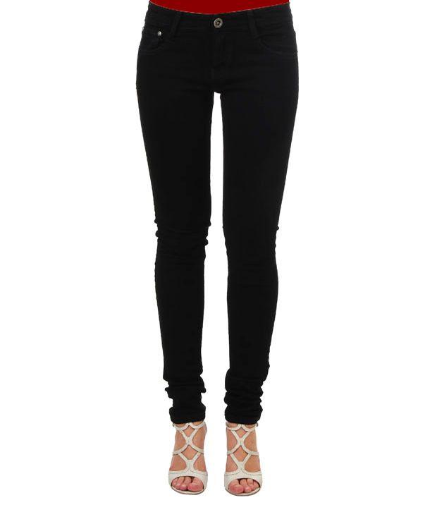 Sequeira Black Cotton Lycra Jeans