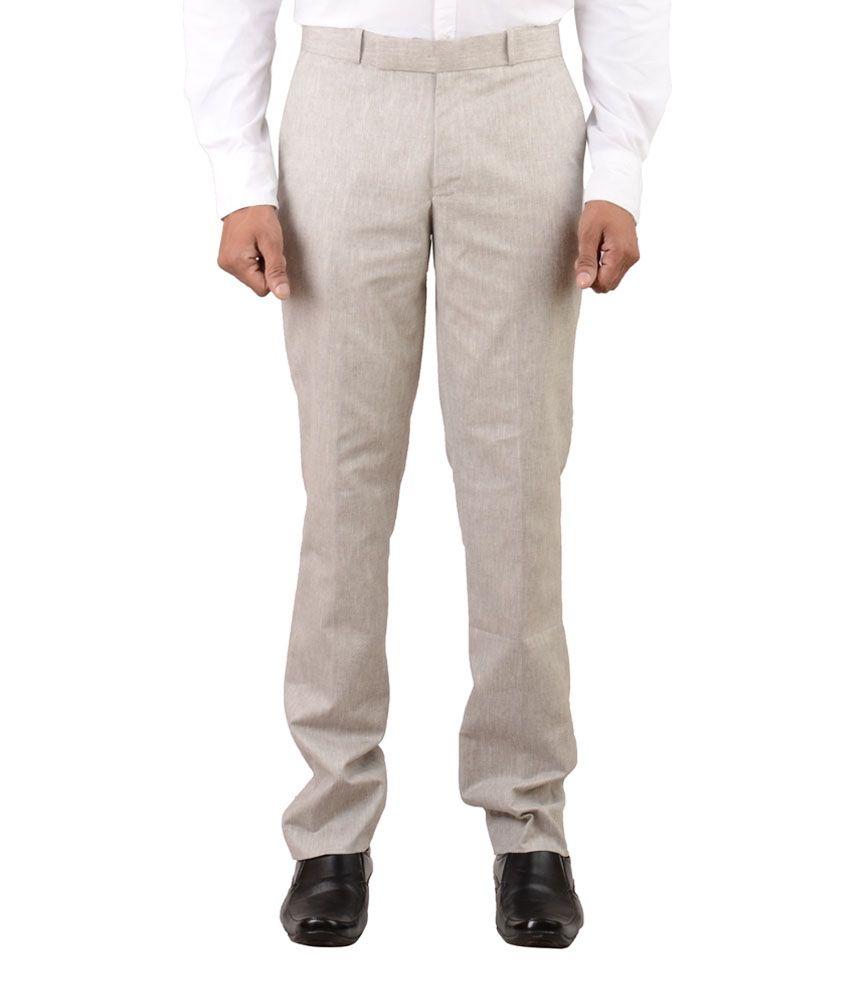 Estilo Ghostwhite Linen Formal Trouser
