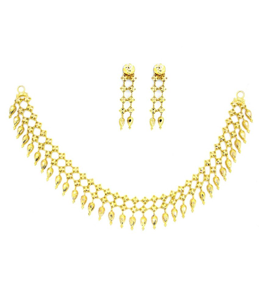 Gold Sutra 14Kt Gold Contemporary Necklace Set