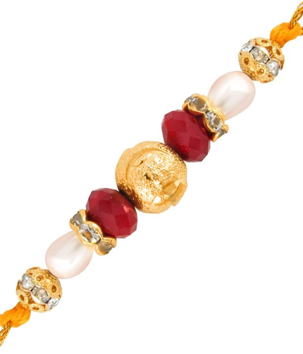 Mahi Gold Plated Golden Love Rakhi