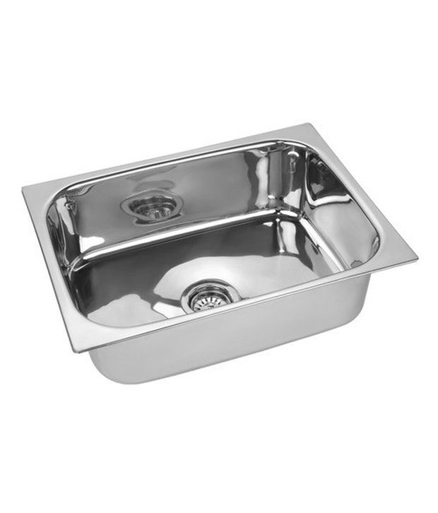 buy radium stainless steel kitchen sink 24 x 18 x 9 online at low rh snapdeal com