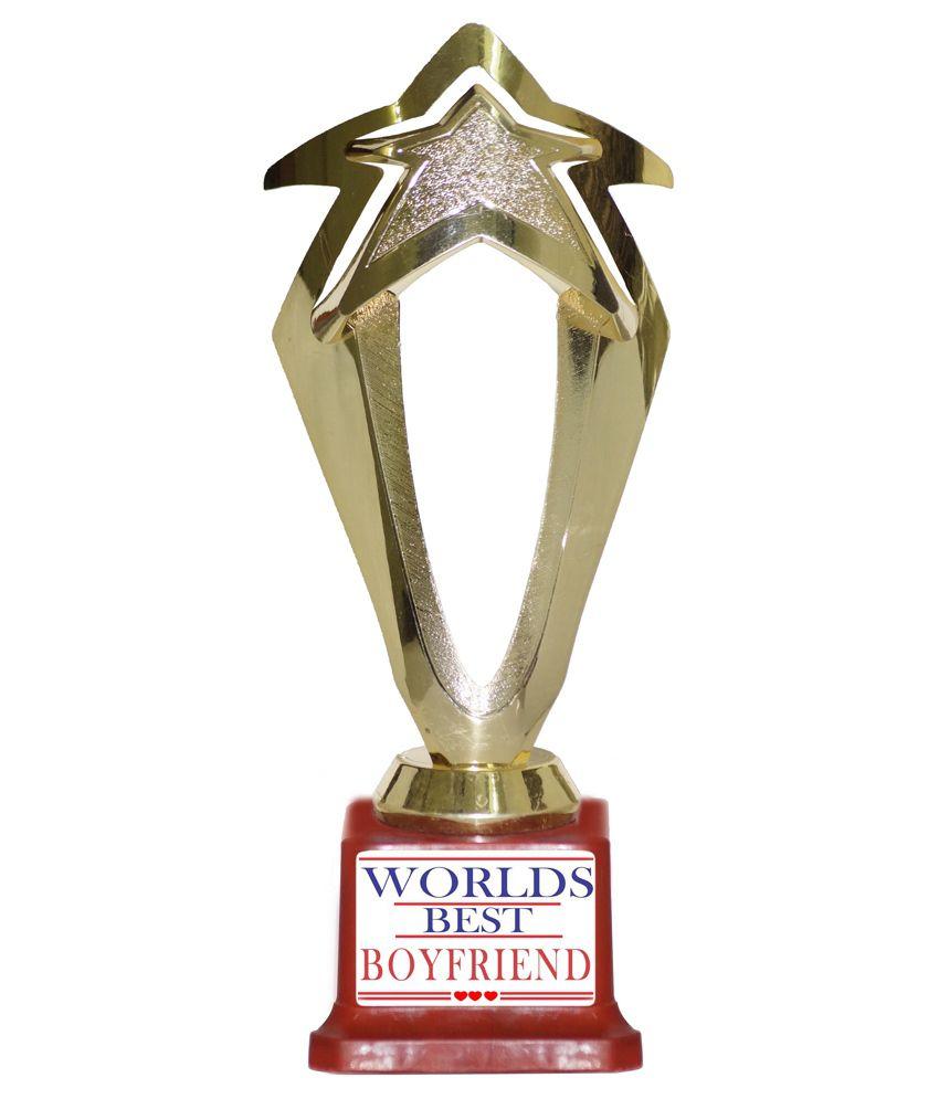Trophydeal Glossy Worlds Best Boyfriend Trophy Buy Trophydeal