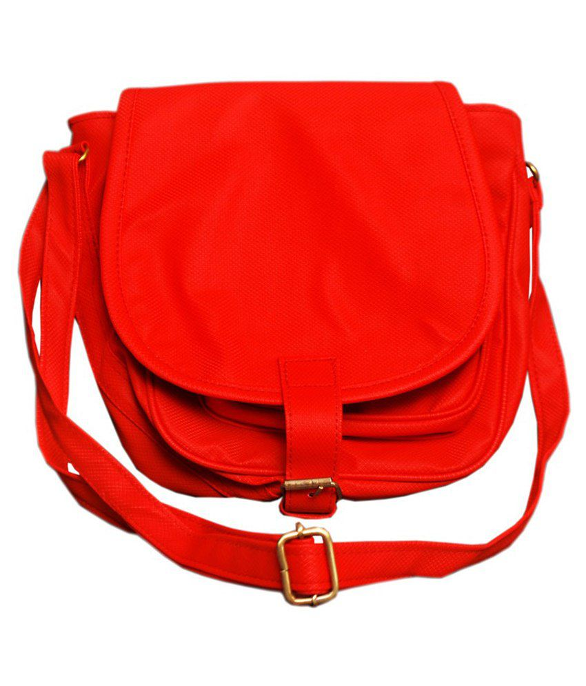 Ever Green Sling Bag-Red