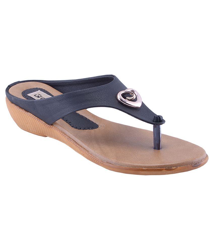Grafion Black Heeled Slip-Ons