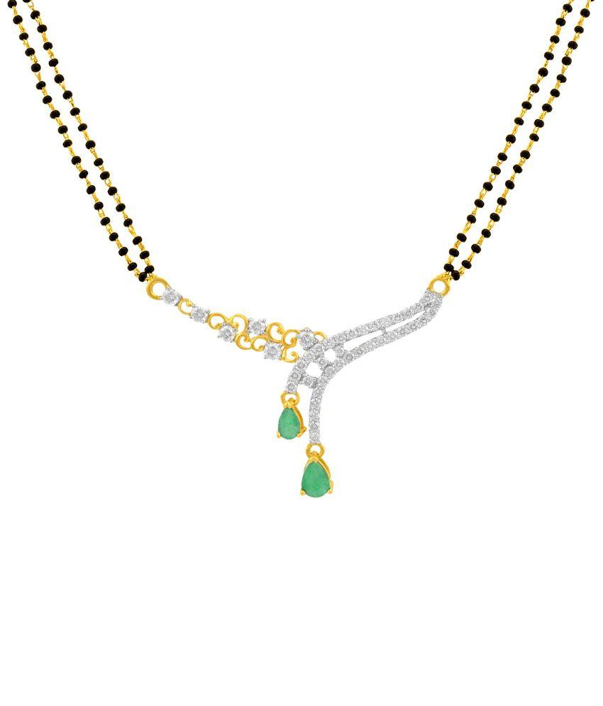 P.N.Gadgil Jewellers 18 Kt Gold & Diamond Courteous Mangalsutra Pendant