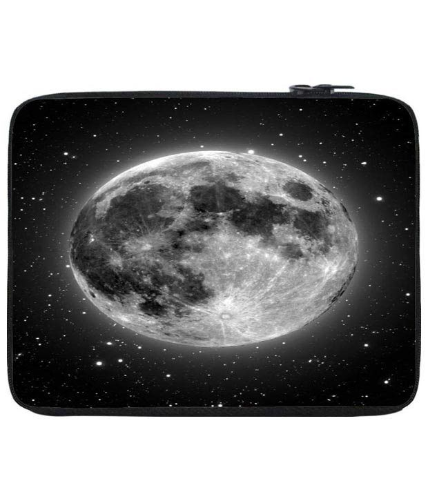 Snoog Black Super Moon Laptop Sleeve 12 to 12.6 Inch