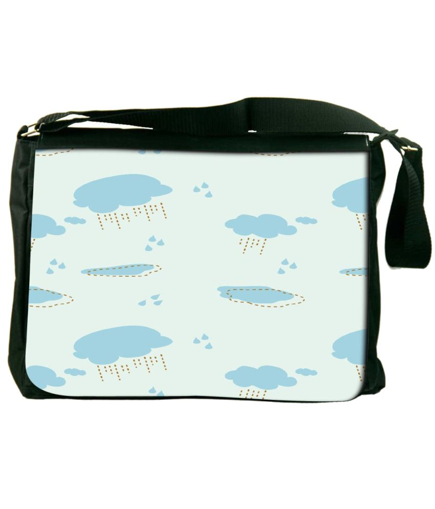 Snoogg Blue Laptop Messenger Bag Blue Messenger Bag