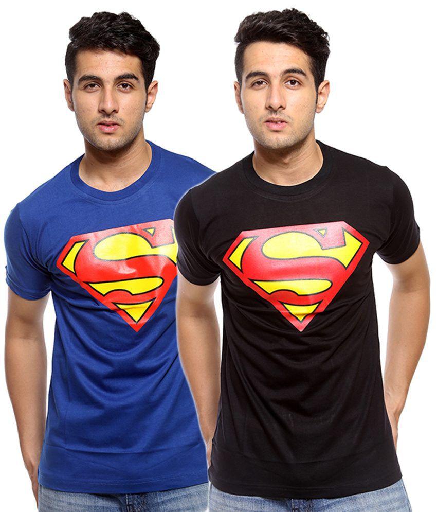Trendmakerz Cotton Graphic Printed Superman T-shirt - Pack Of 2
