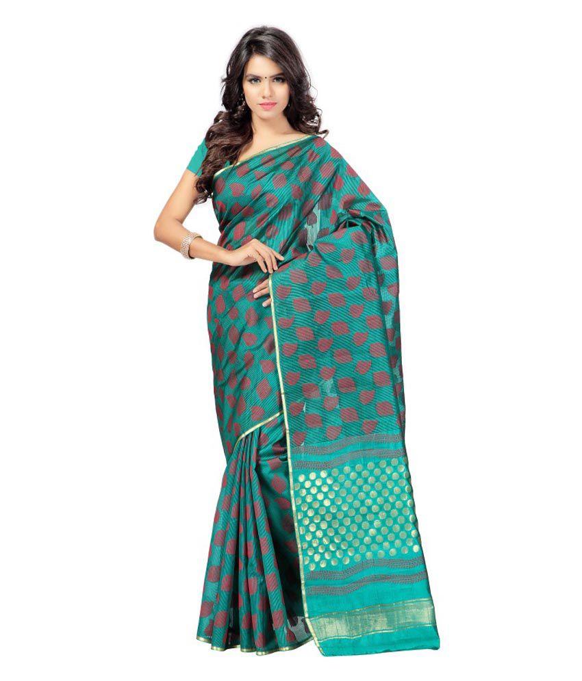 Vimlon Green Silk Saree