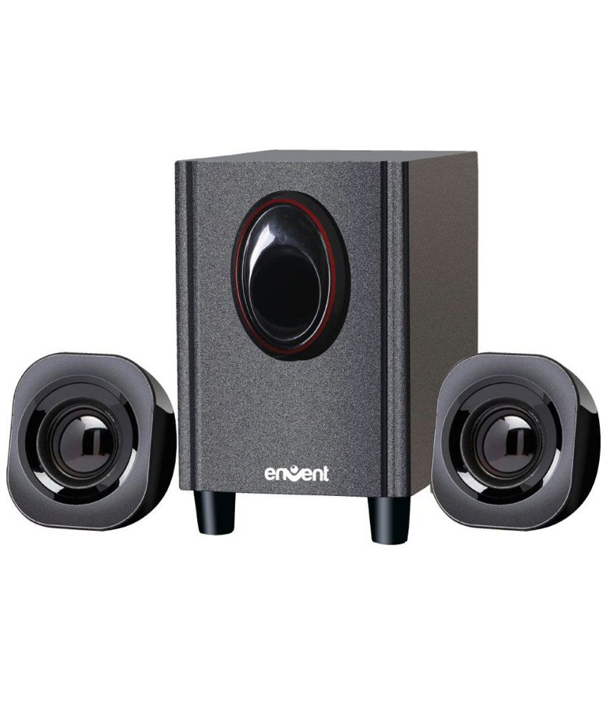 Envent 1000 W 3.5 Mm Input Stereo Subwoofers For Iphone - 5 Black