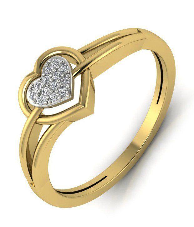 Kataria Jewellers Diamonds Silver Valentine's Day Hearts Ring