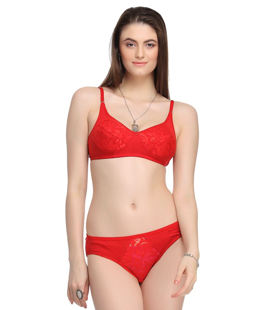 65eb46cc33937 Buy Lily Red Bra & Panty Sets Online at Best Prices in India - Snapdeal