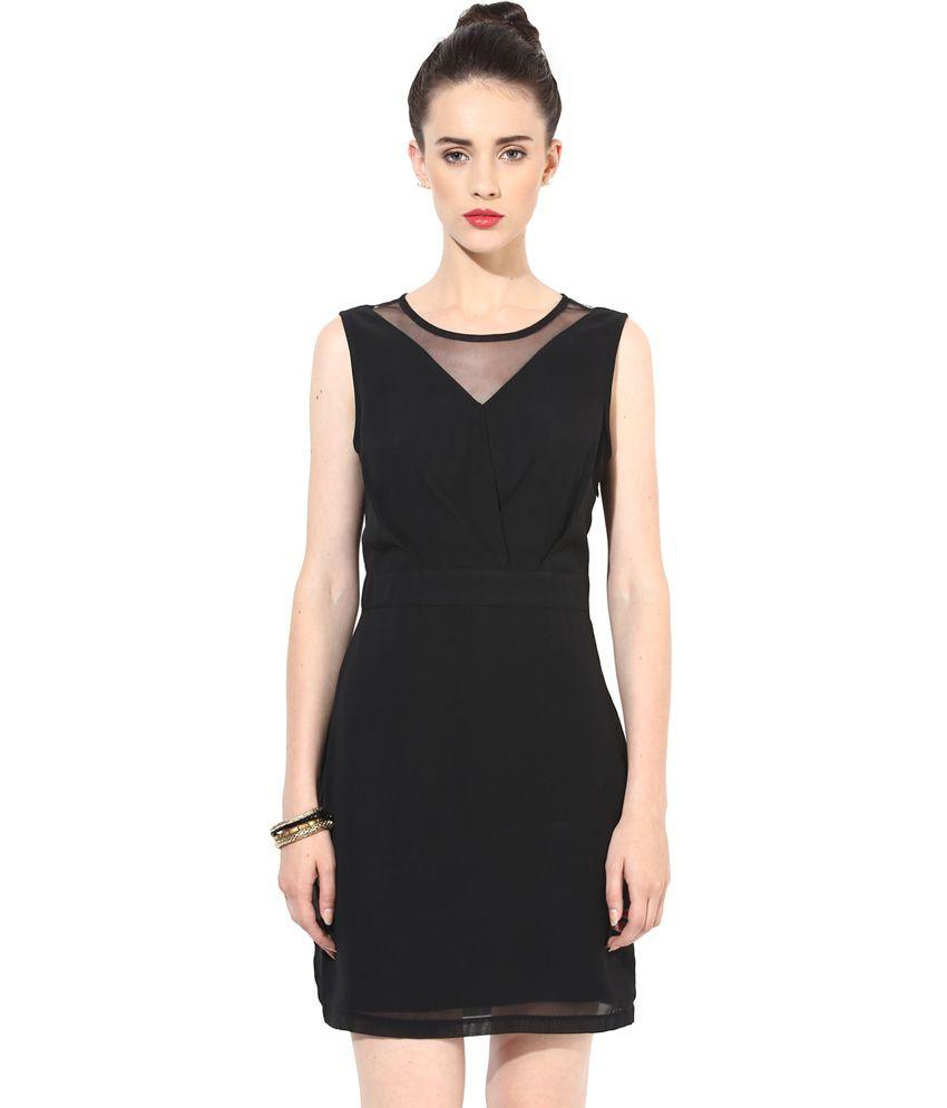Besiva Black Polyester Dresses