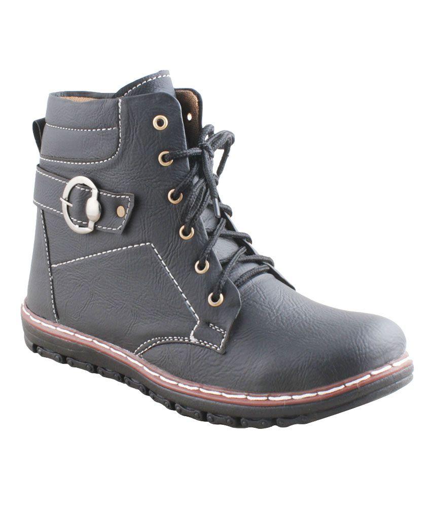 Euro Reel Shoes Black Boots